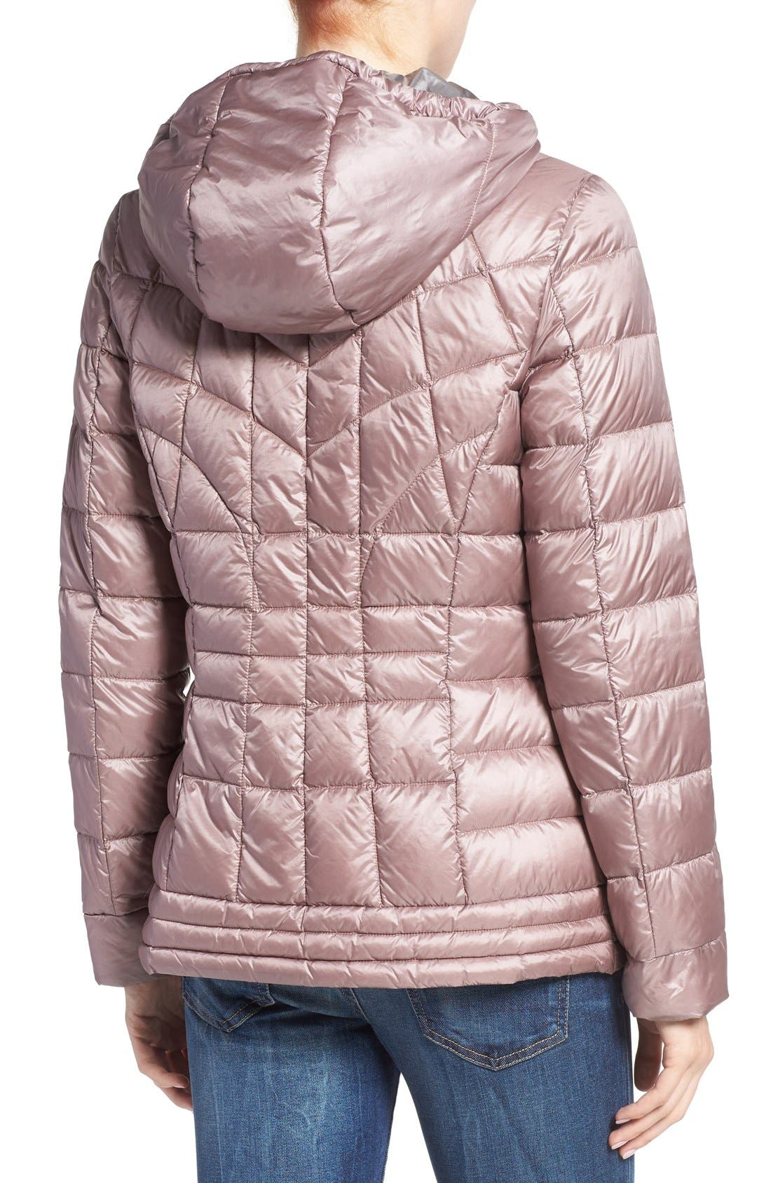 Alternate Image 2  - Bernardo Packable Down & PrimaLoft® Fill Hooded Jacket (Regular & Petite)