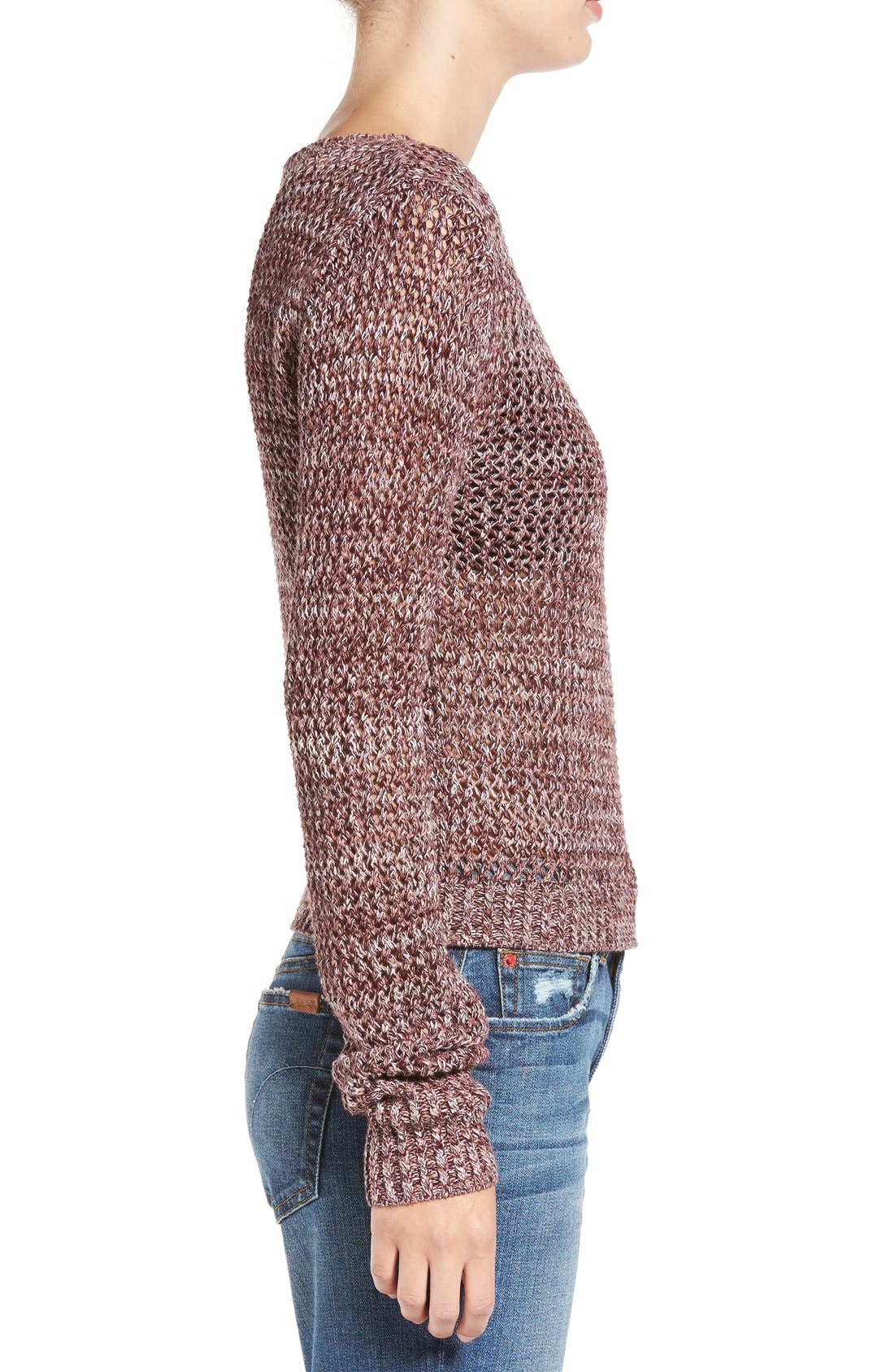 Alternate Image 3  - Joe's 'Reed' Crochet Cotton Sweater