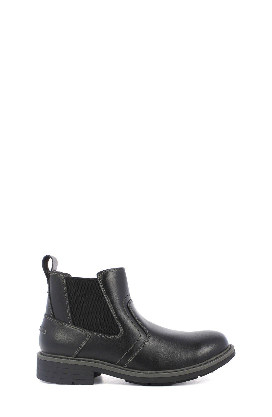 'Studio Gore' Chelsea Boot,                             Main thumbnail 1, color,                             Black Leather