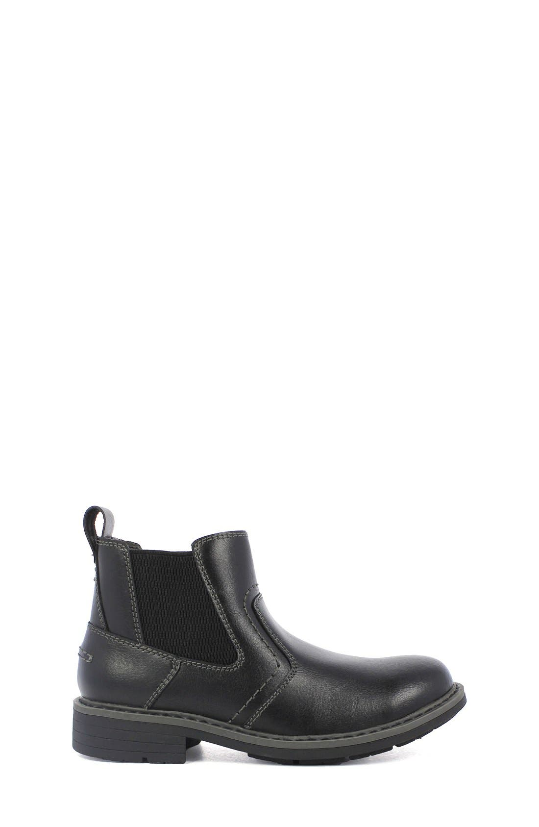 'Studio Gore' Chelsea Boot,                         Main,                         color, Black Leather