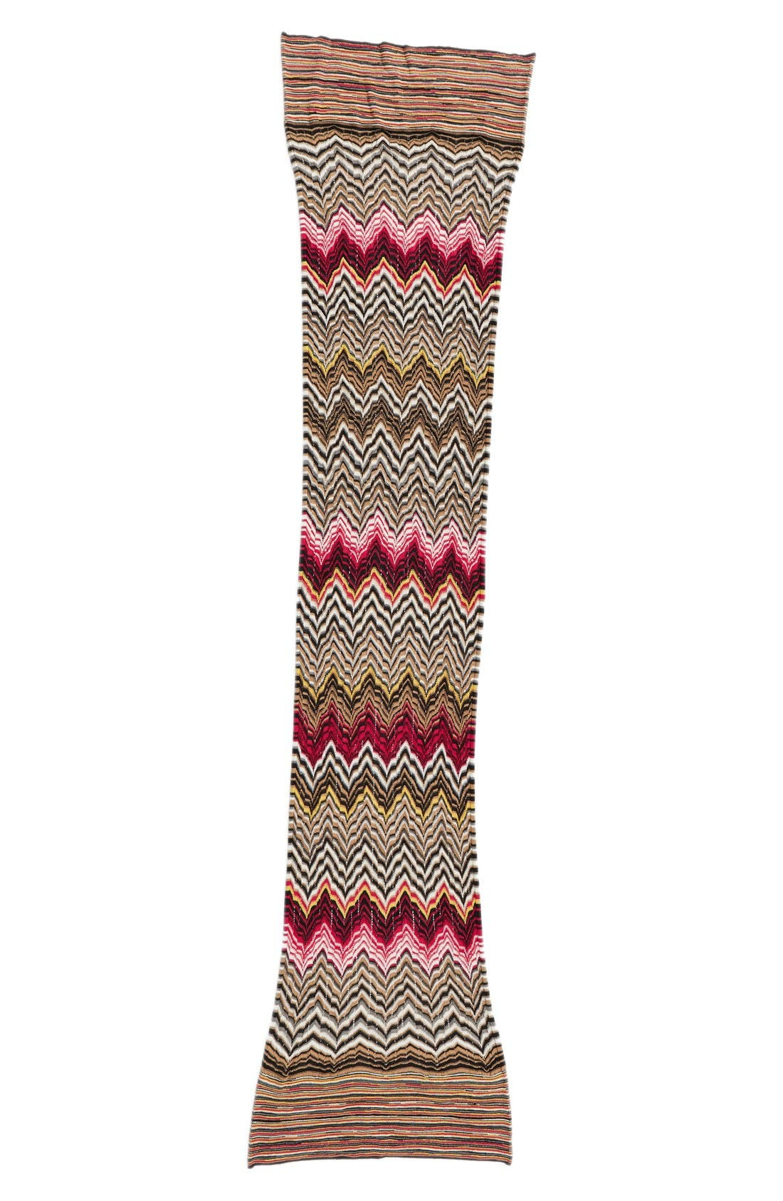MISSONI Chevron & Stripe Scarf