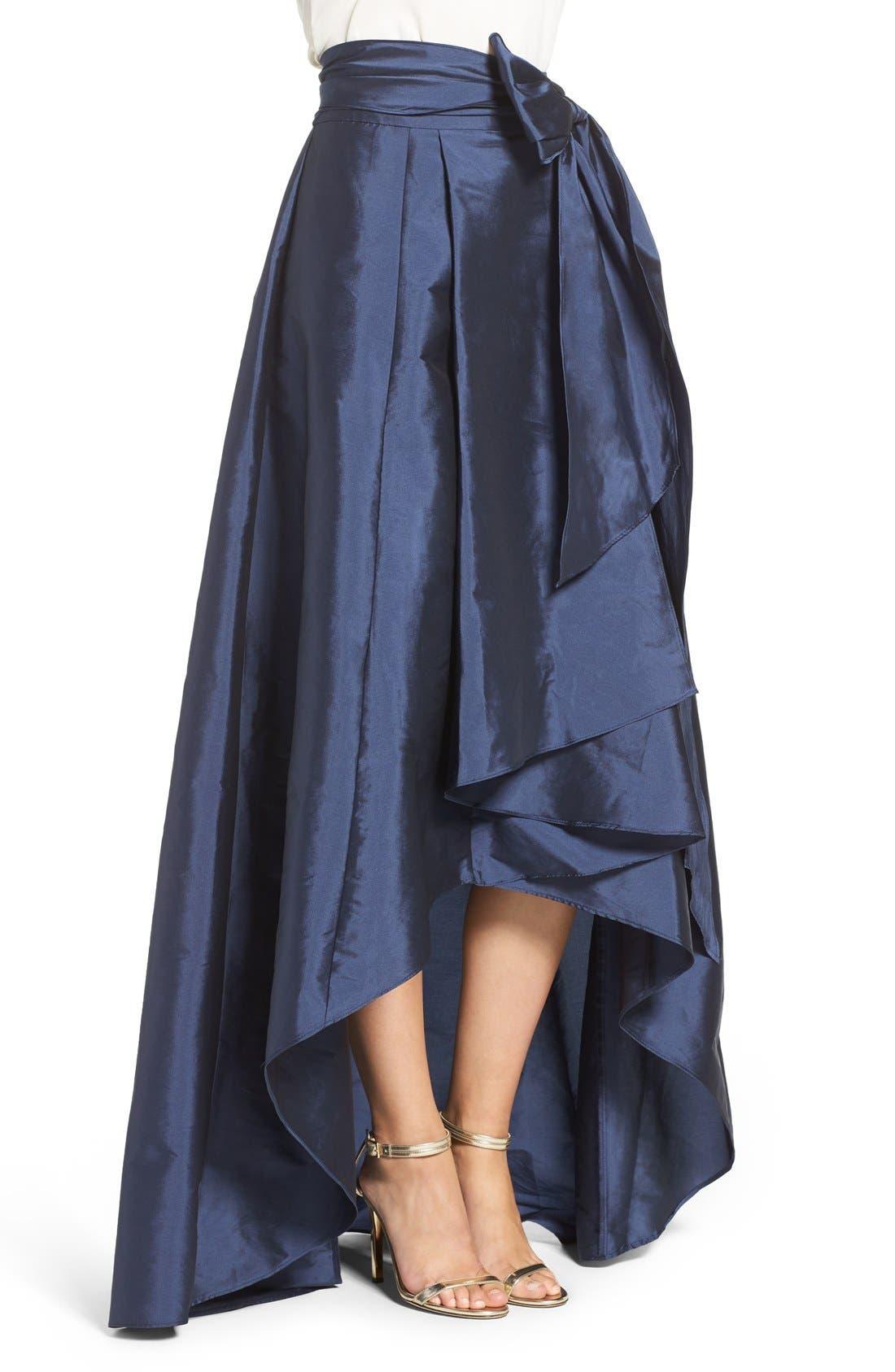 Alternate Image 3  - Adrianna Papell High/Low Taffeta Ball Skirt
