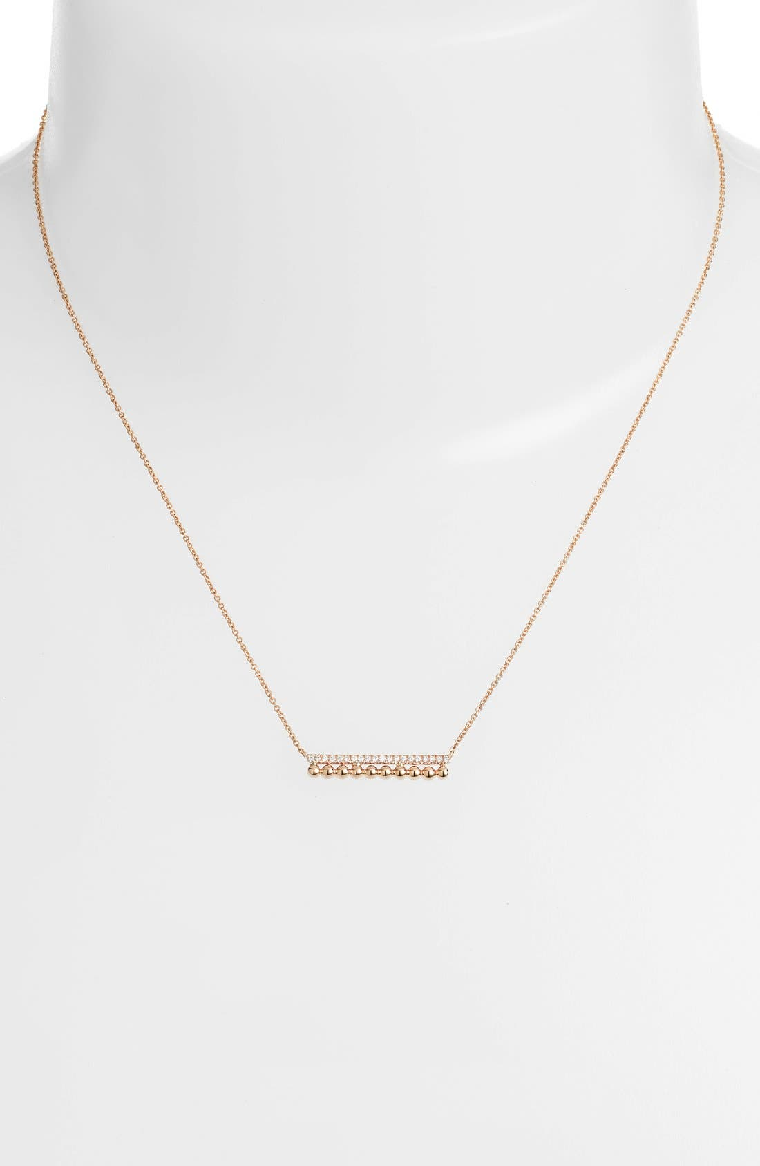 'Poppy Rae' Bar Pendant Necklace,                             Alternate thumbnail 2, color,                             Yellow Gold