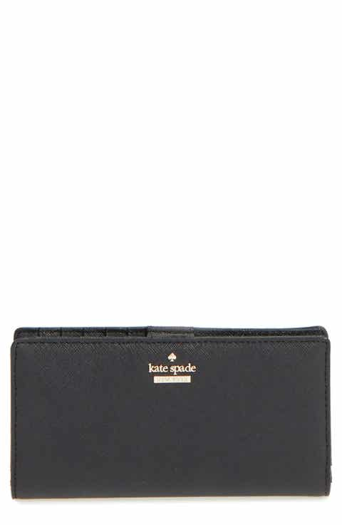 Black accessories easter gifts nordstrom kate spade new york cameron street stacy textured leather wallet negle Images