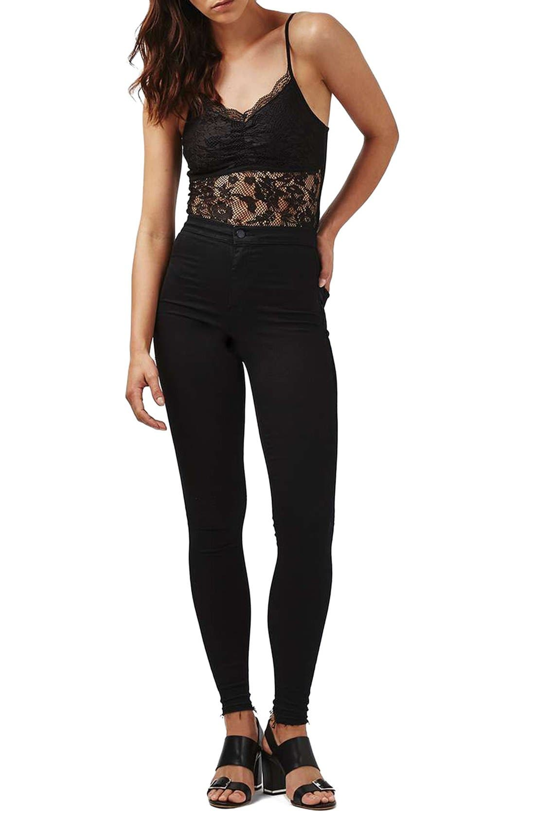 Alternate Image 2  - Topshop Lace Scallop Bodysuit