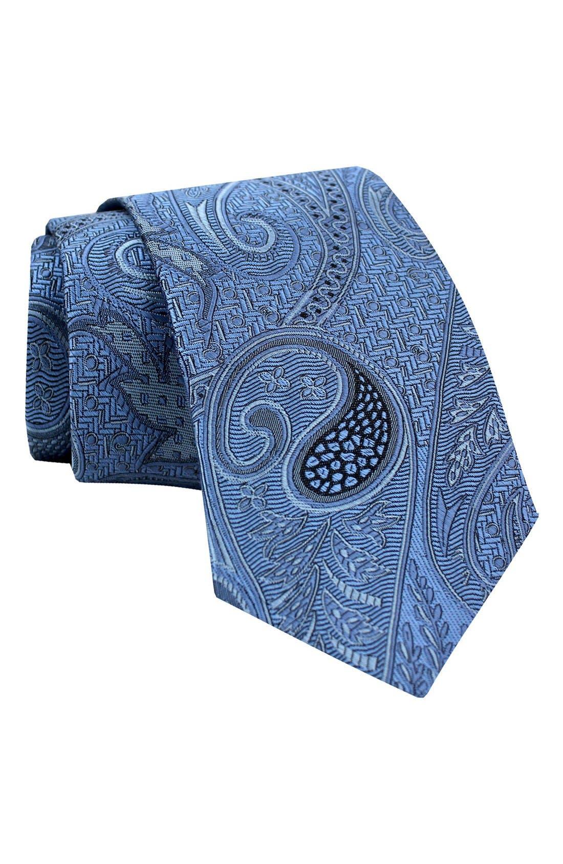 Gitman Paisley Woven Silk Tie
