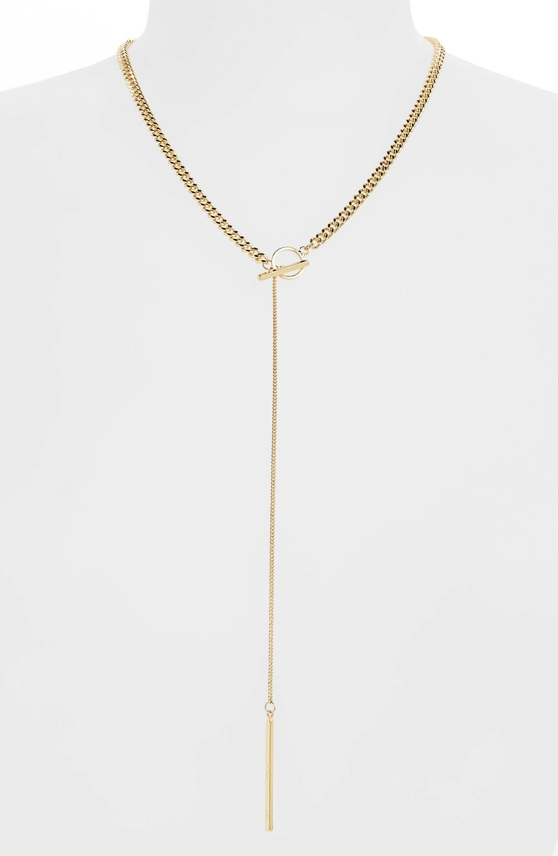 Main Image - Sole Society Curb Chain Y-Necklace