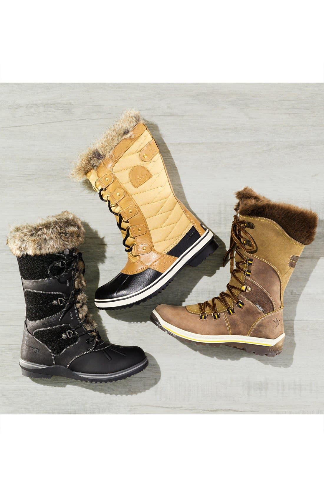 'Morella' Water Resistant Faux Fur Boot,                             Alternate thumbnail 7, color,