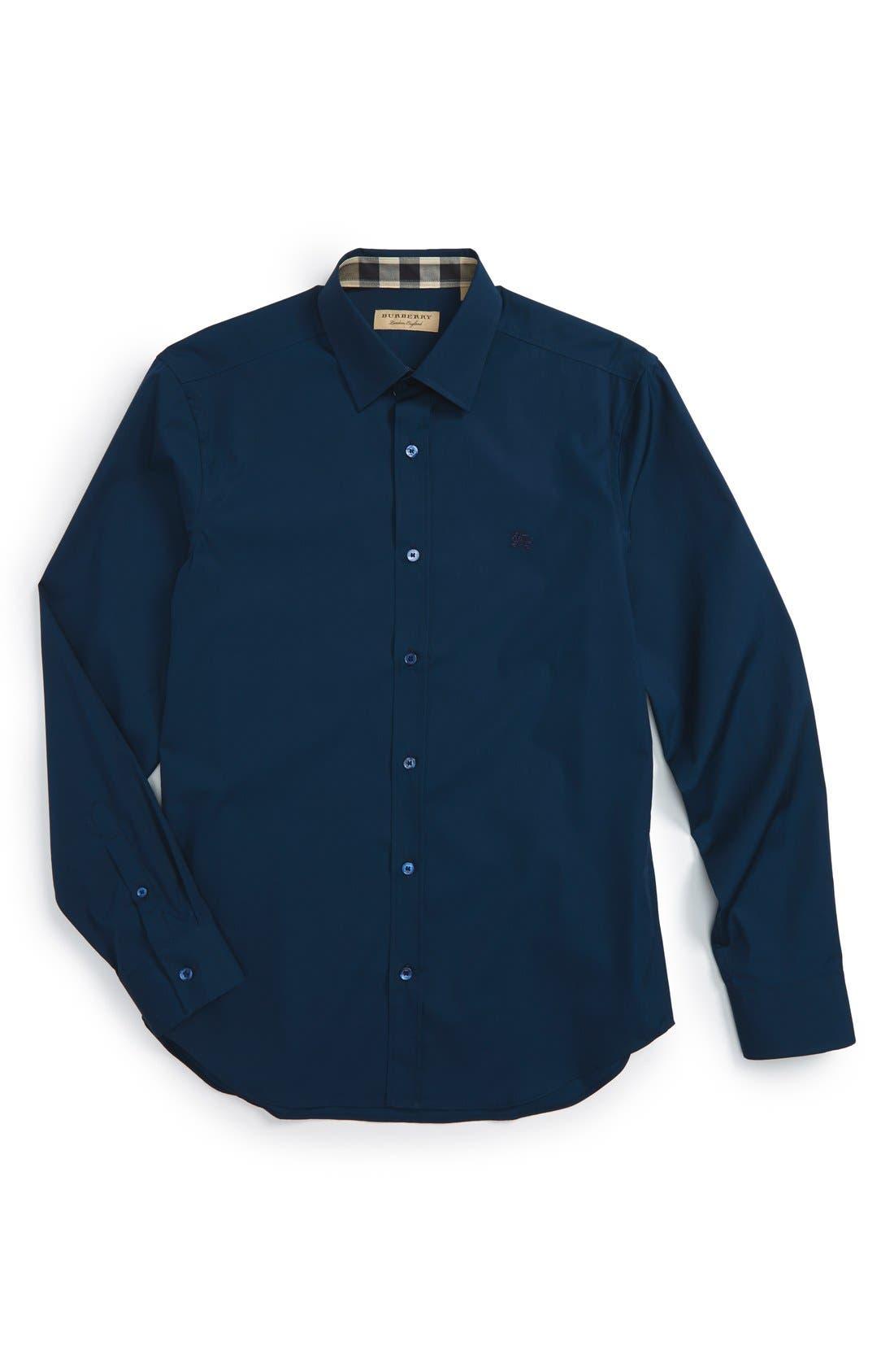 Cambridge Aboyd Sport Shirt,                         Main,                         color, Deep Teal Blue