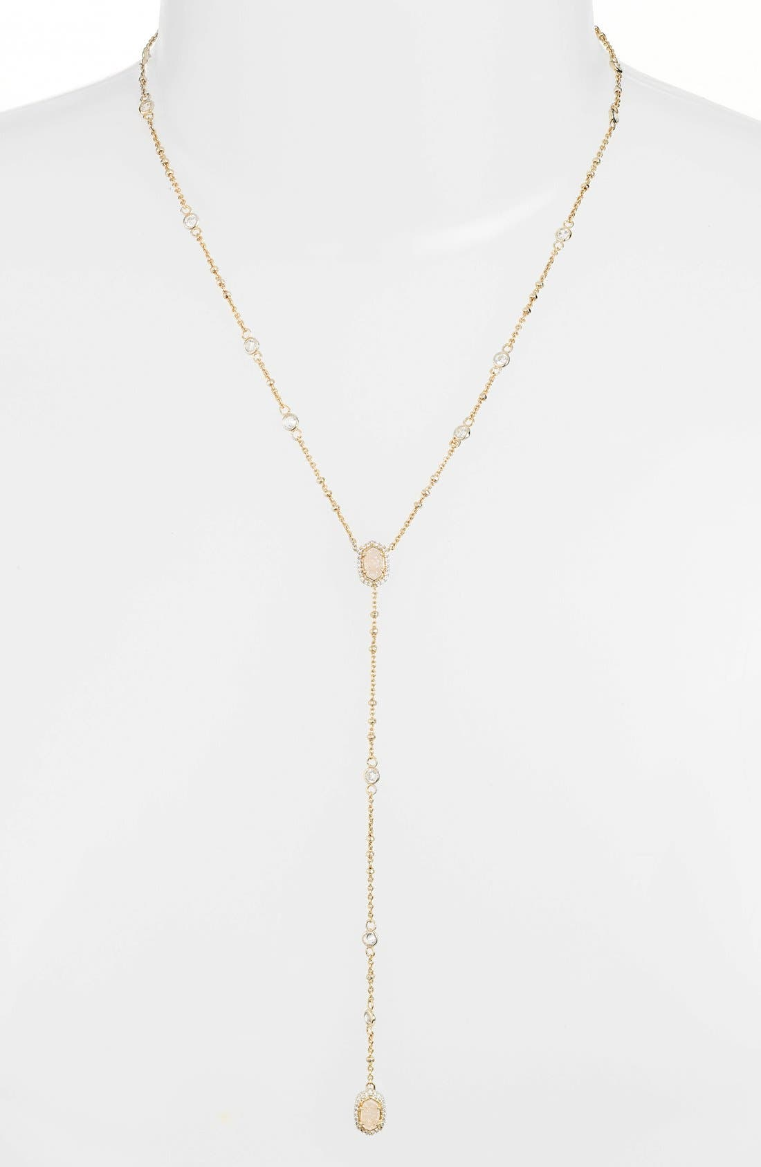 Alternate Image 1 Selected - Kendra Scott 'Claudia' Crystal Y-Necklace