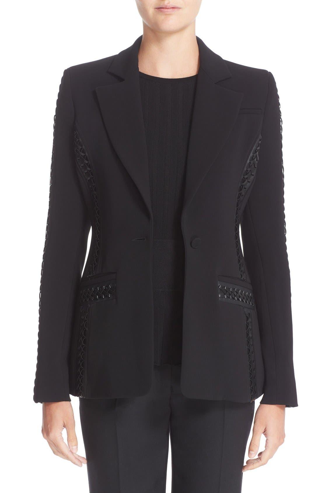 Acacia Lace Detail Jacket,                             Main thumbnail 1, color,                             Black