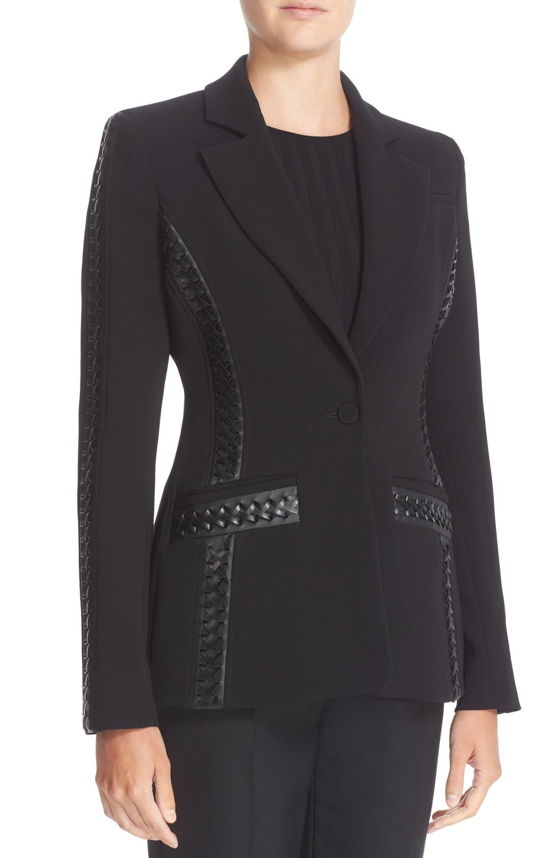 Acacia Lace Detail Jacket,                             Alternate thumbnail 5, color,                             Black