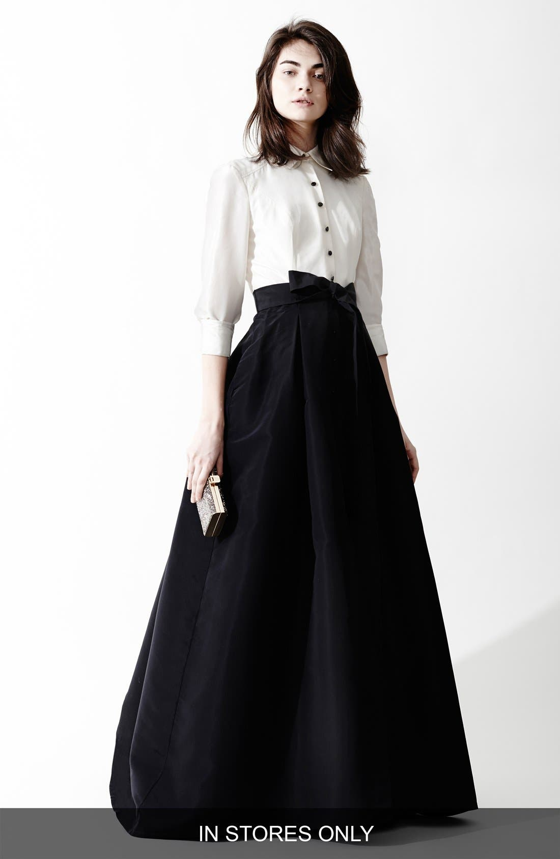 Alternate Image 6  - Carolina Herrera Silk Taffeta Trench Gown