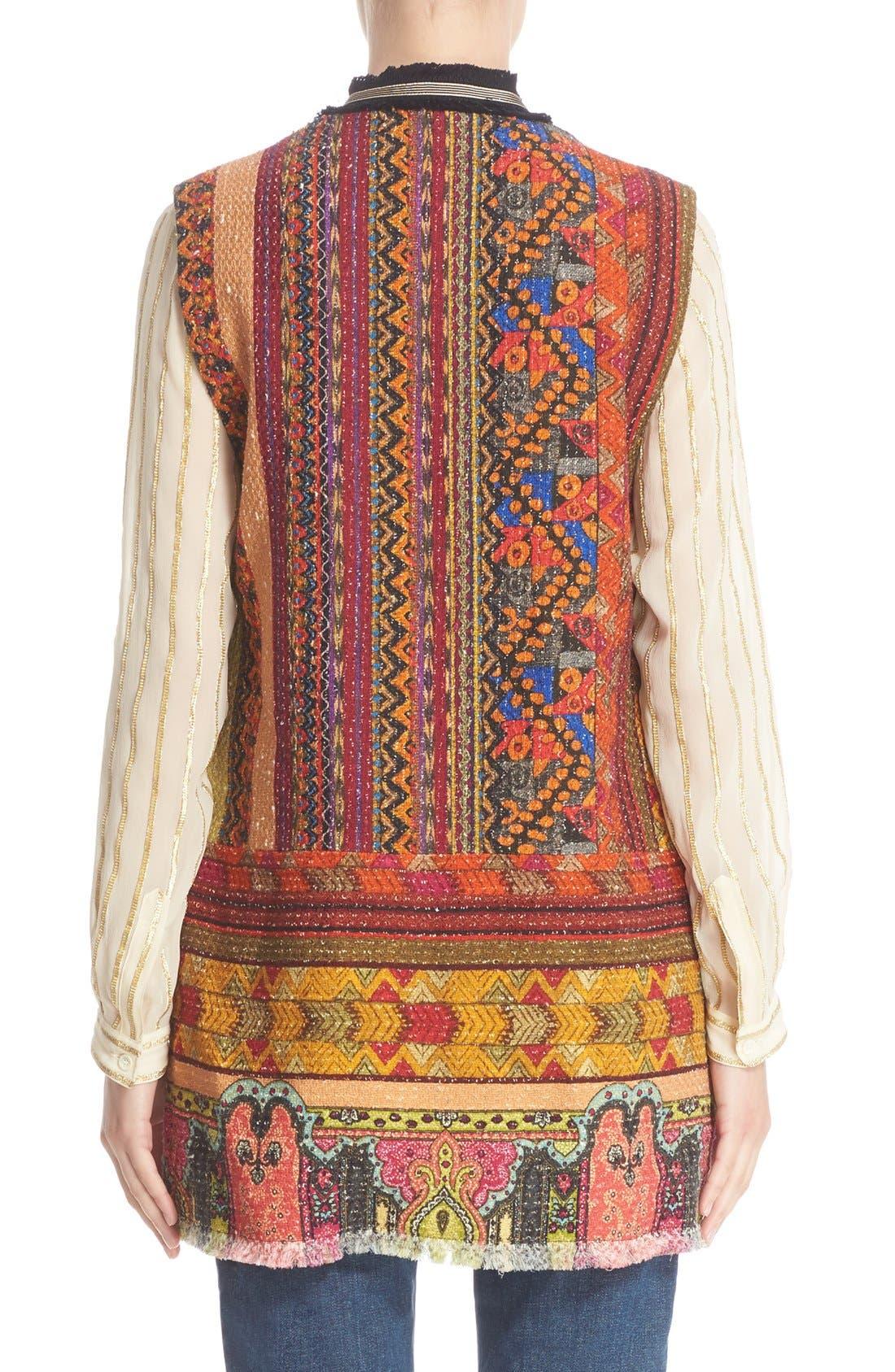 Alternate Image 2  - Etro Ribbon Print Cotton Blend Vest