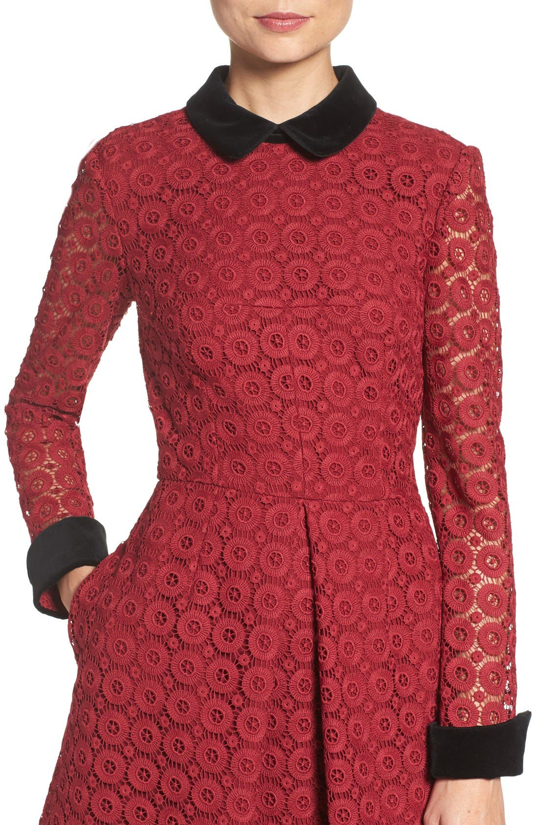 Alternate Image 5  - Jill Jill Stuart Velvet & Lace Shirtdress