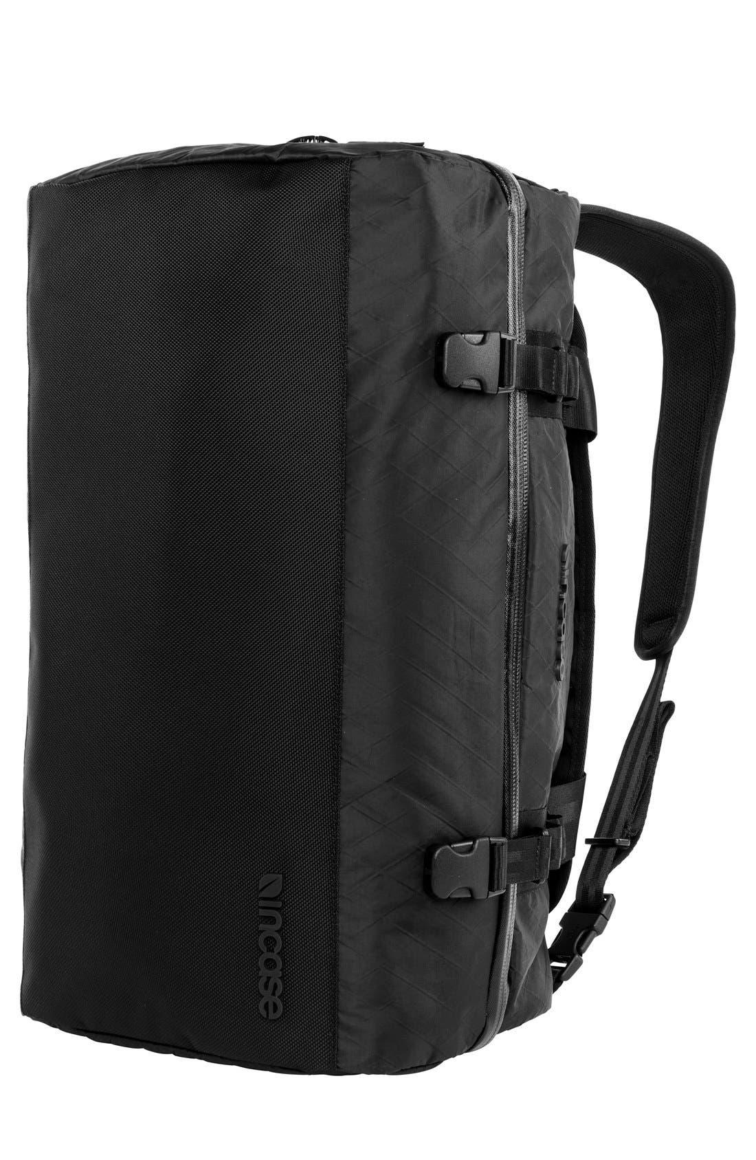 TRACTO Diamond Wire Split Travel Bag,                             Alternate thumbnail 5, color,                             Black