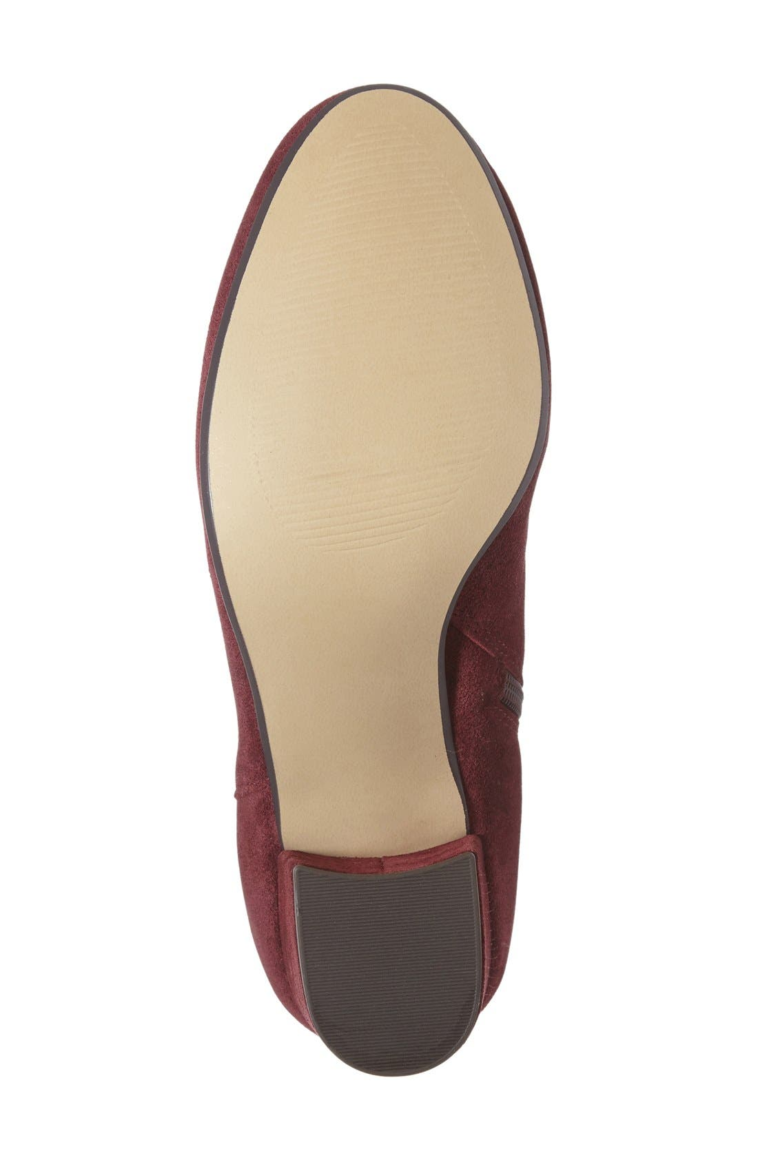 Holster Bootie,                             Alternate thumbnail 6, color,                             Burgundy Suede