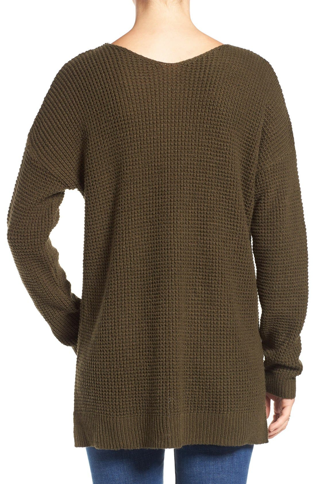 Alternate Image 2  - BP. Texture Knit Pullover