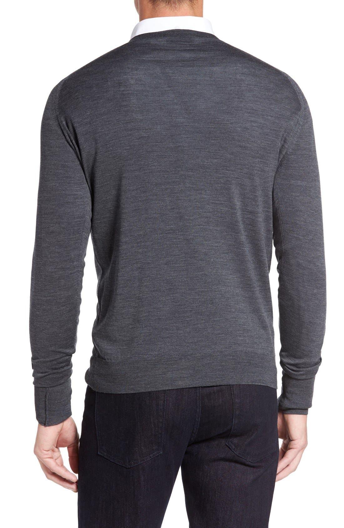 Alternate Image 2  - John Smedley 'Bobby' Easy Fit V Neck Wool Sweater