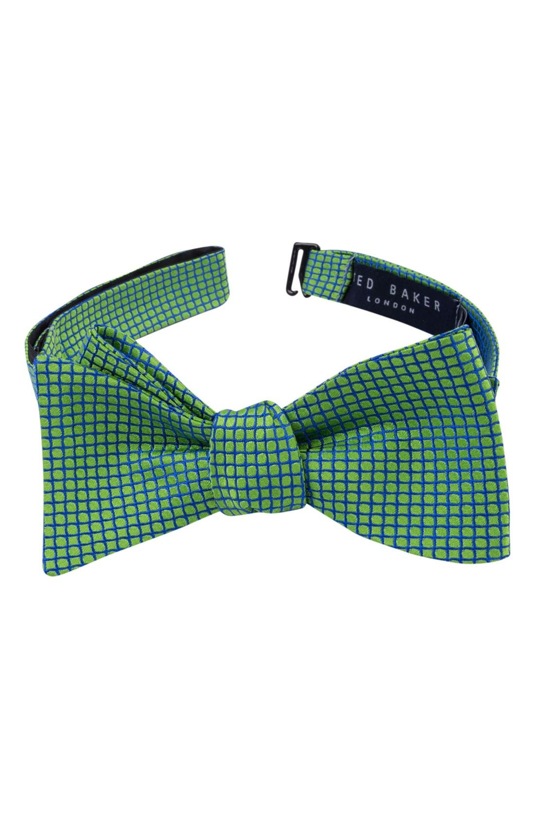 TED BAKER LONDON Geometric Silk Bow Tie