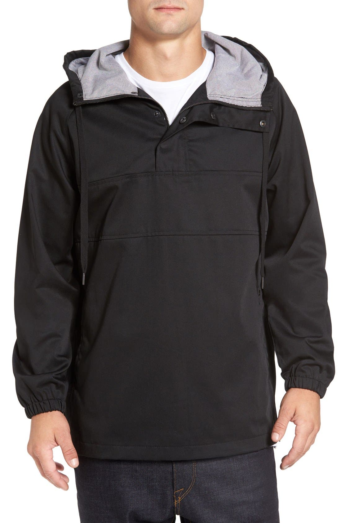 'Clinton' Hooded Anorak,                         Main,                         color, Black