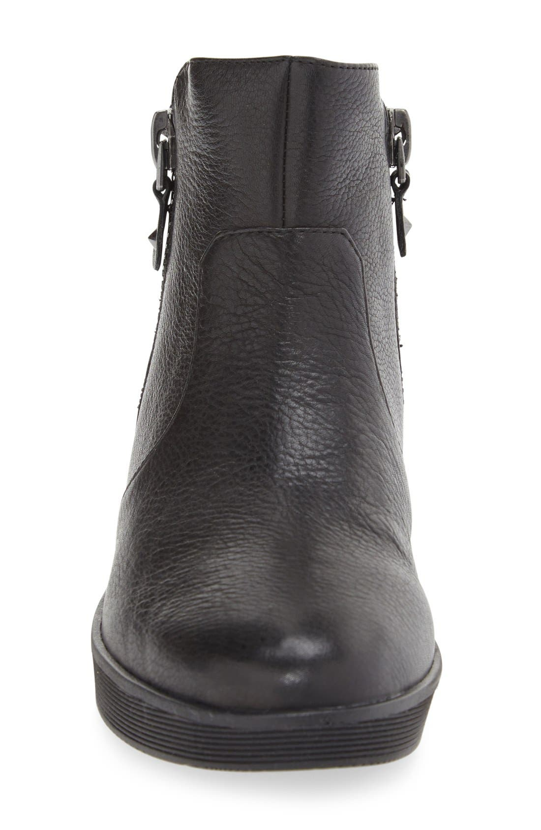 by Kenneth Cole 'Harper' Sneaker Bootie,                             Alternate thumbnail 3, color,                             Black Leather
