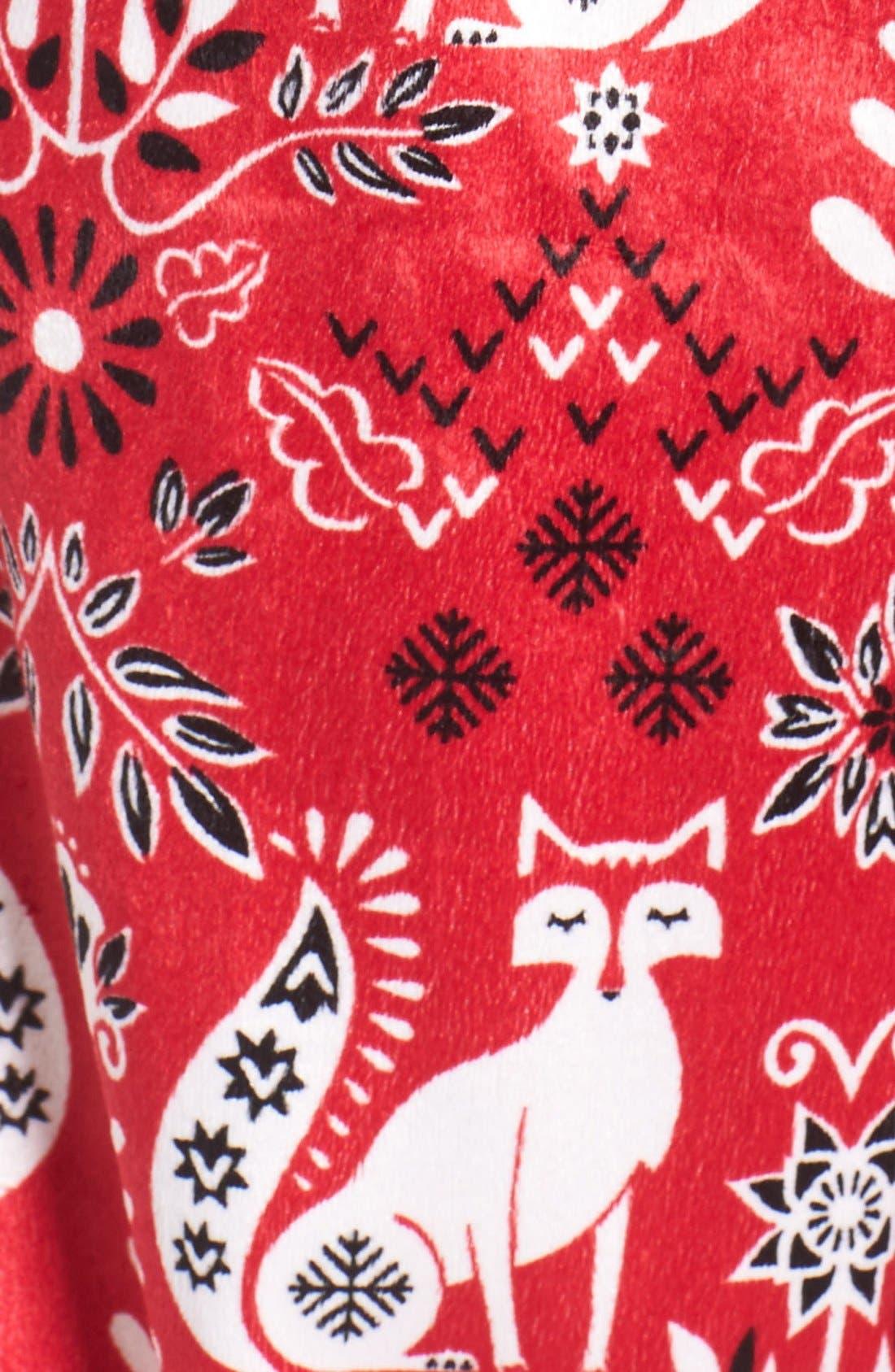 Long Pajamas & Eye Mask,                             Alternate thumbnail 5, color,                             Samba Foxes
