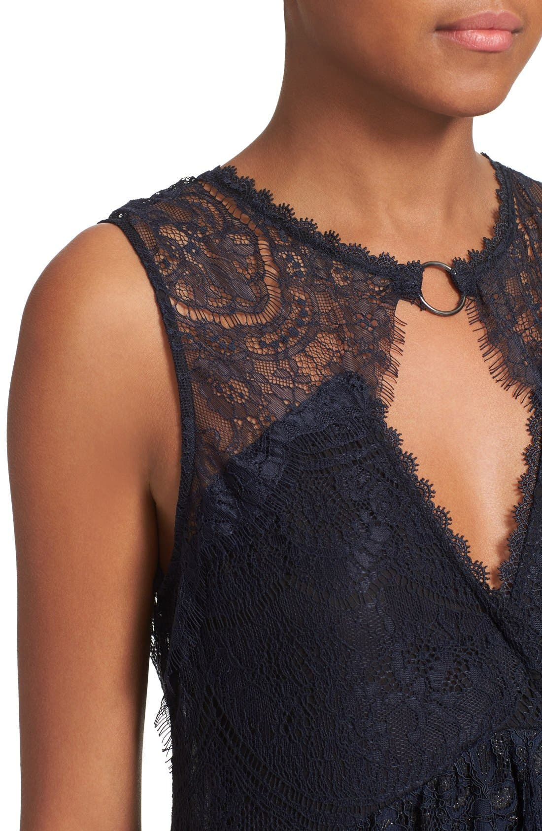Alternate Image 4  - Free People Don't You Dare Lace Shift Dress