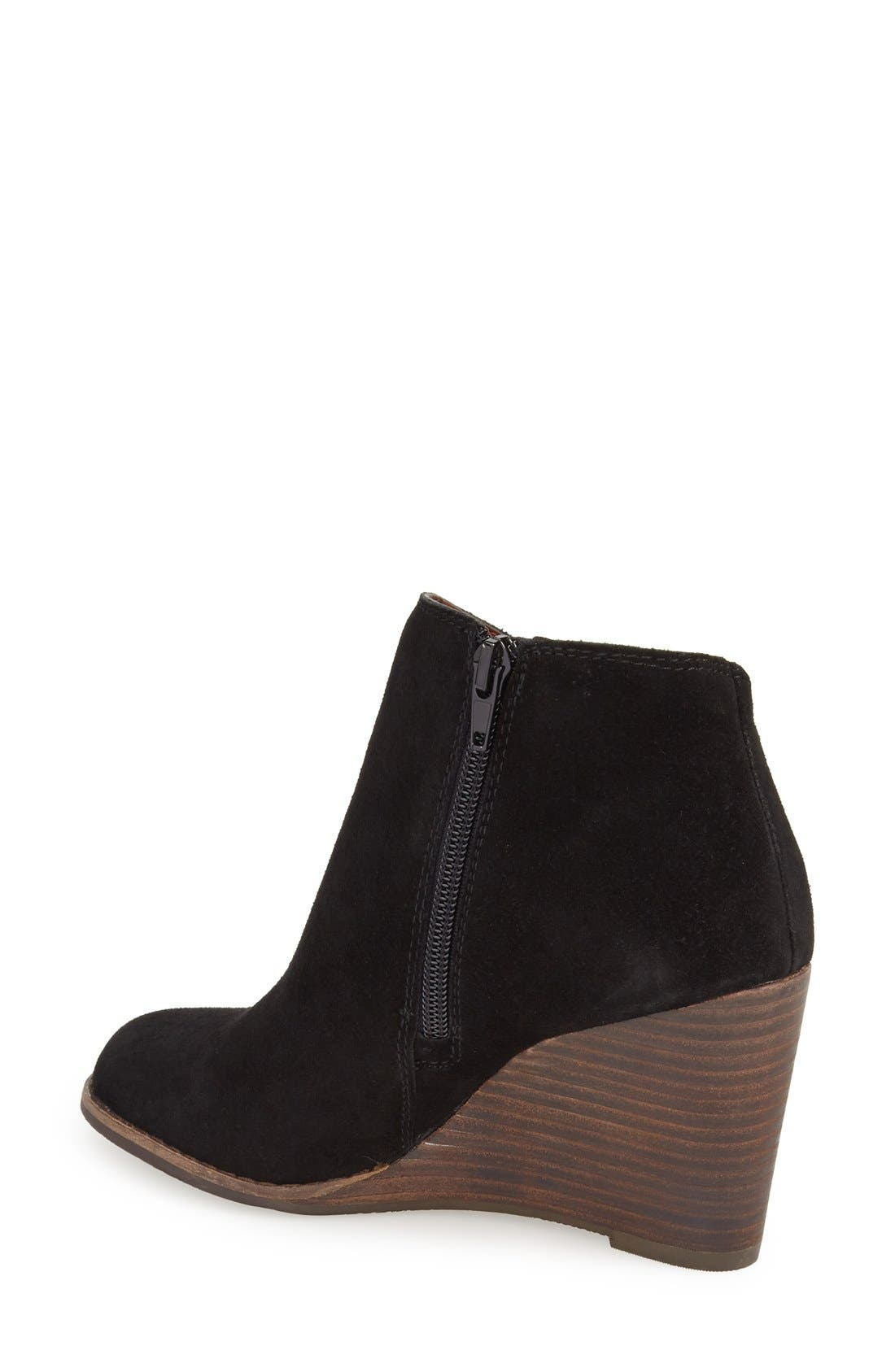 Alternate Image 2  - Lucky Brand 'Yakeena' Zip Wedge Bootie (Women)