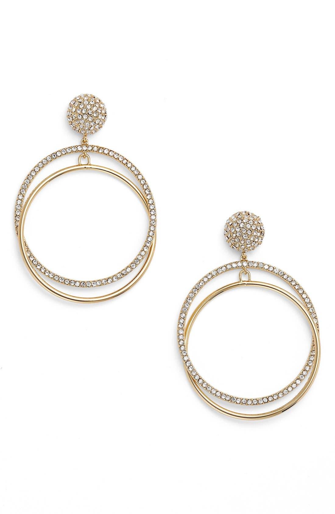 Alternate Image 1 Selected - kate spade new york ring it up drop hoop earrings