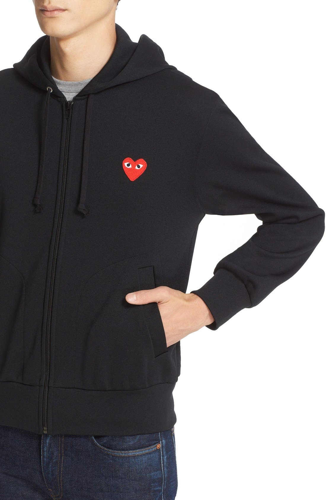 Alternate Image 4  - Comme des Garçons PLAY Zip-Up Hoodie