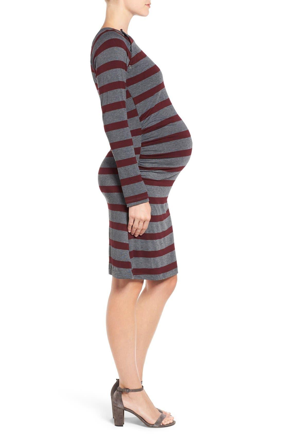 Alternate Image 3  - LAB40 'Alex' Ruched Maternity/Nursing Dress