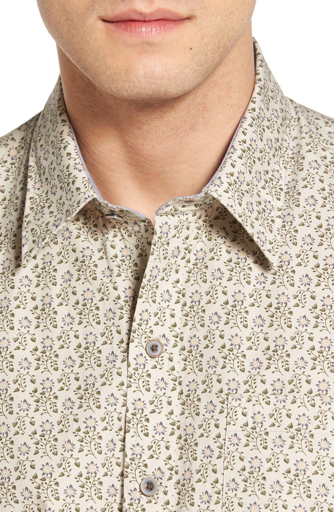 Alternate Image 4  - Cutter & Buck 'Winston' Regular Fit Print Sport Shirt (Big & Tall)