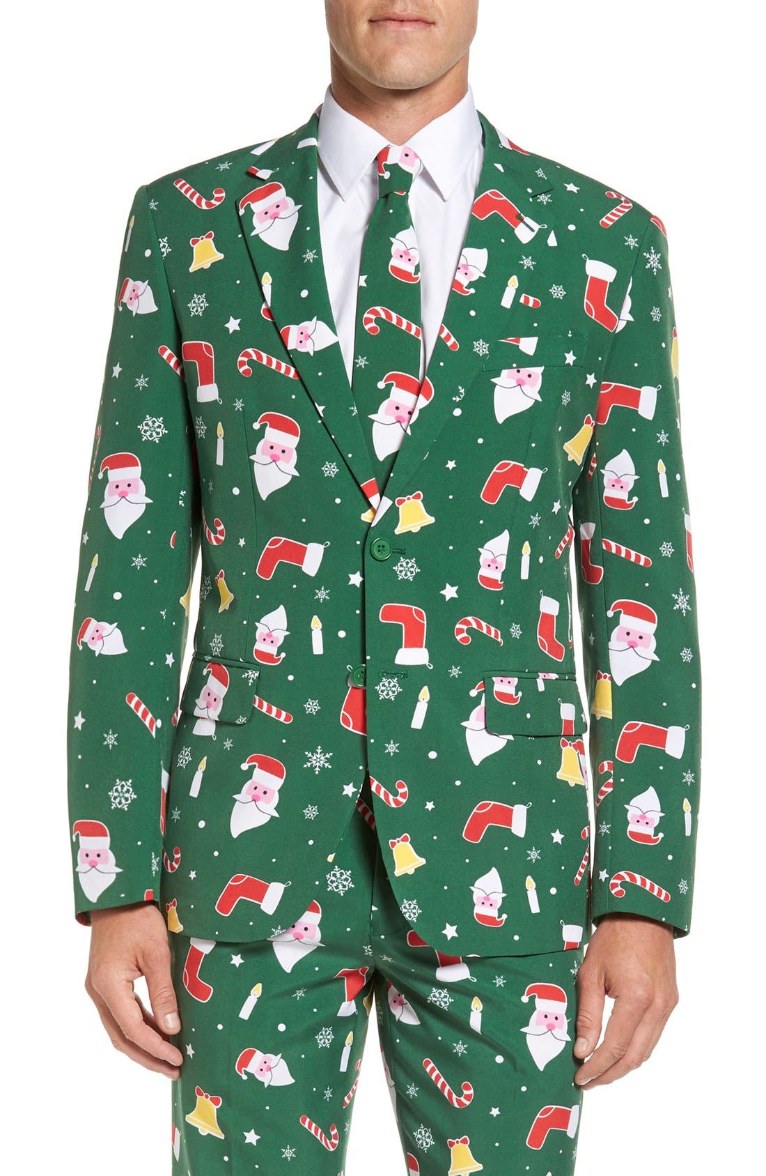 Alternate Image 5  - OppoSuits 'Santaboss' Trim Fit Two-Piece Suit with Tie