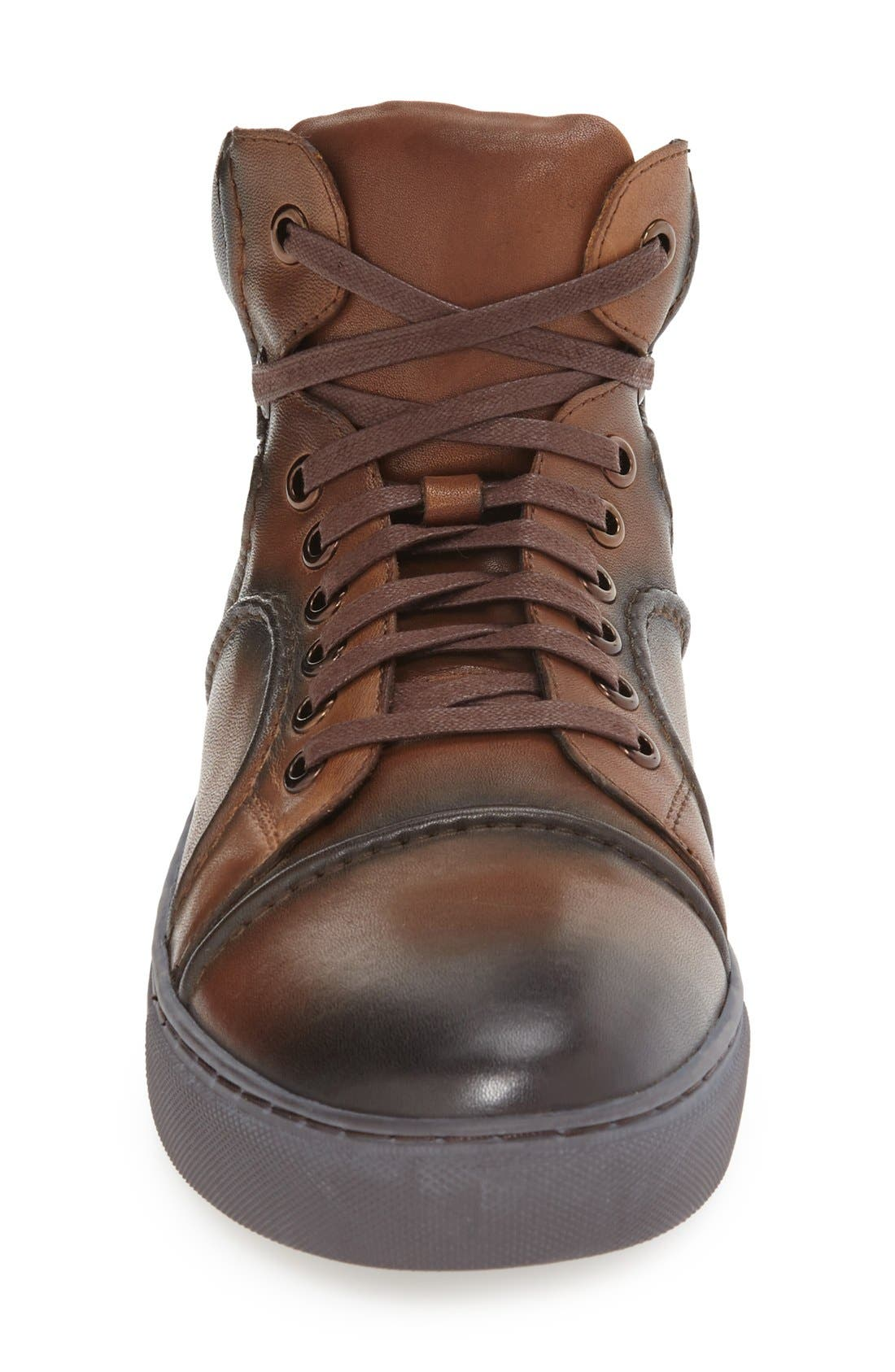 Vinyl Sneaker,                             Alternate thumbnail 3, color,                             Cognac