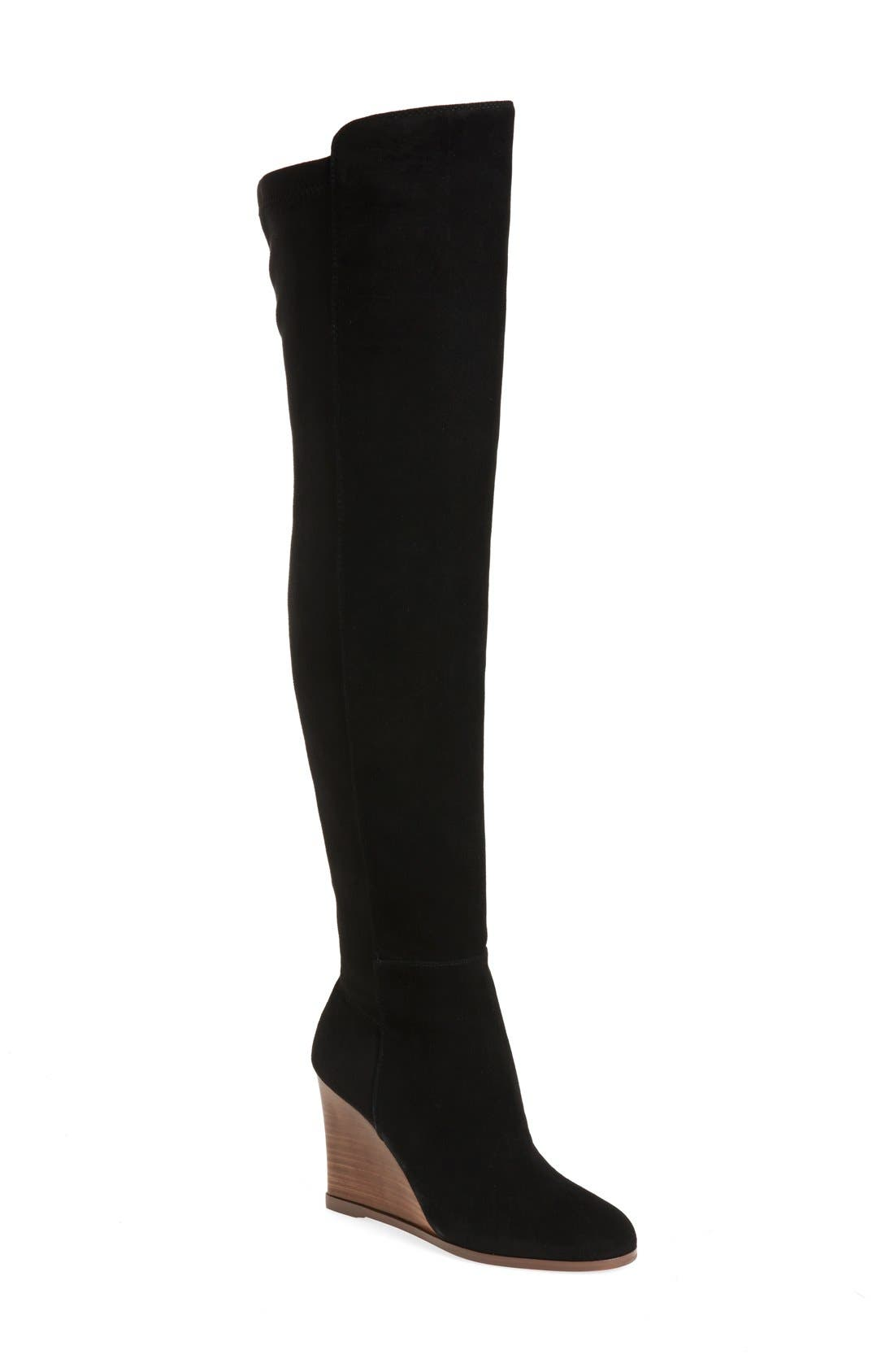 Alternate Image 1 Selected - Vince Camuto 'Granta' Over the Knee Wedge Boot (Women)