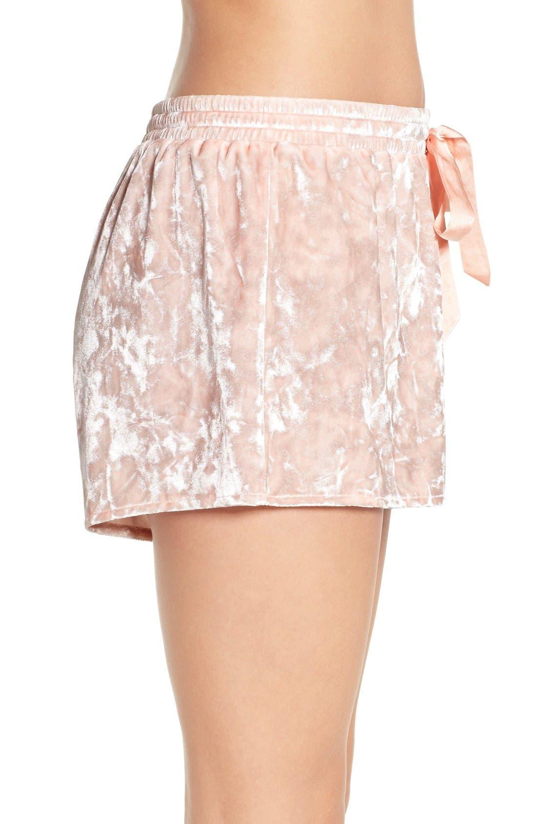 Alternate Image 3  - Chelsea28 Crushed Velvet Shorts