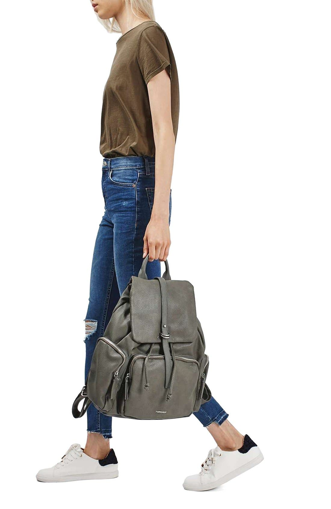 Alternate Image 2  - Topshop Faux Leather Backpack