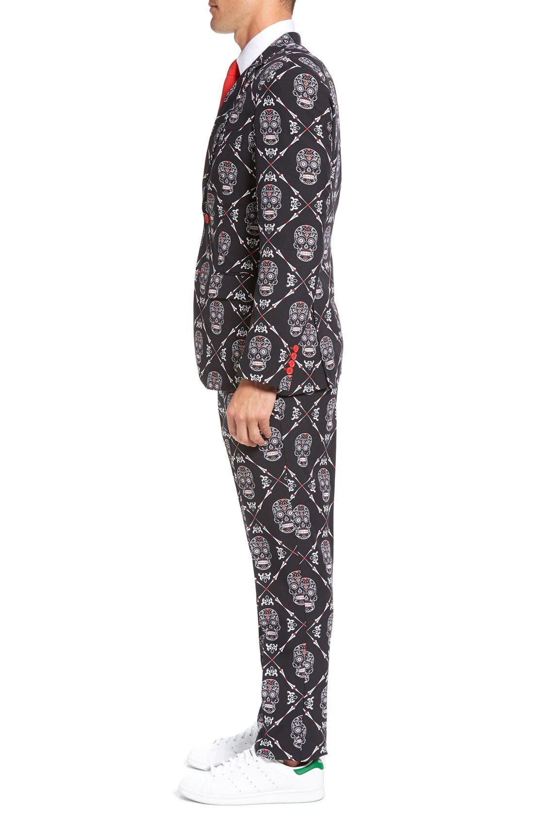 Alternate Image 3  - OppoSuits 'Haunting Hombre' Trim Fit Suit with Tie