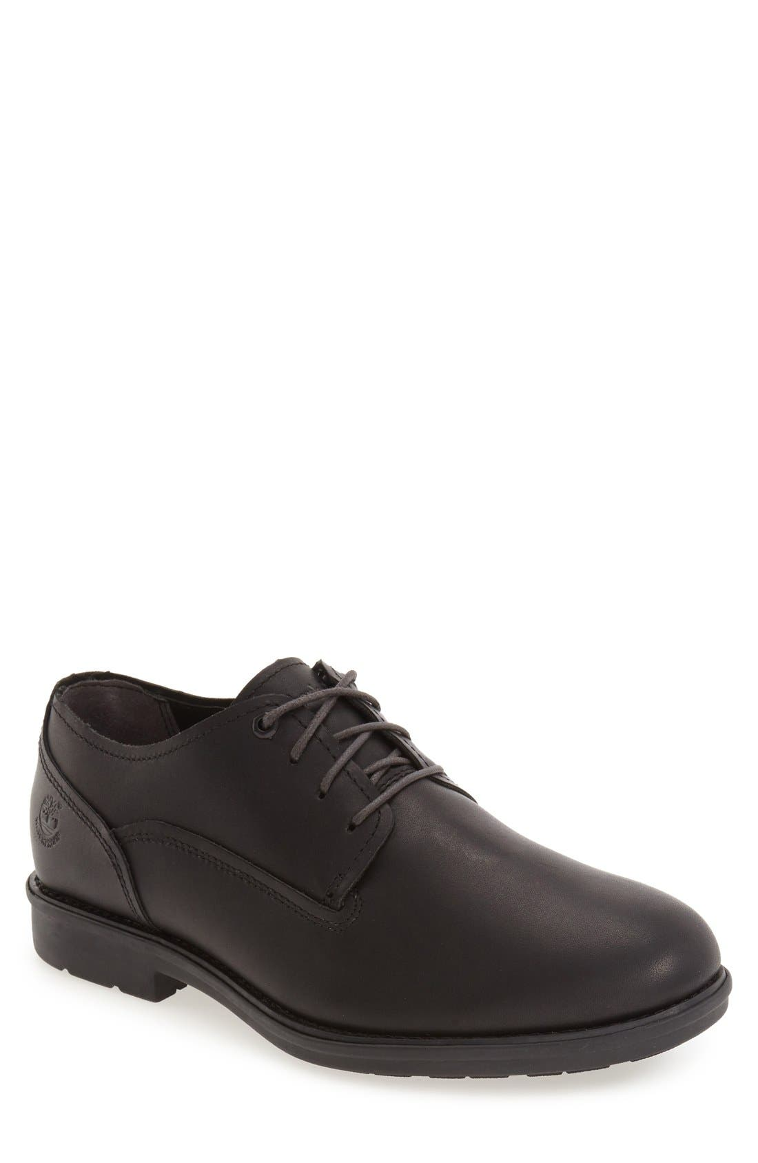 'Carter' Waterproof Plain-Toe Derby,                         Main,                         color, Black