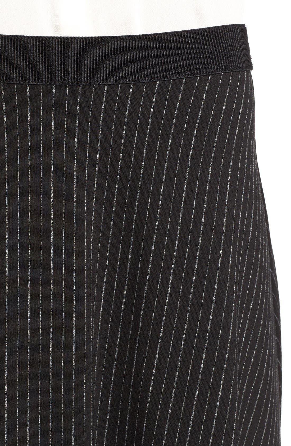 Alternate Image 4  - Bobeau Pinstripe A-Line Midi Skirt