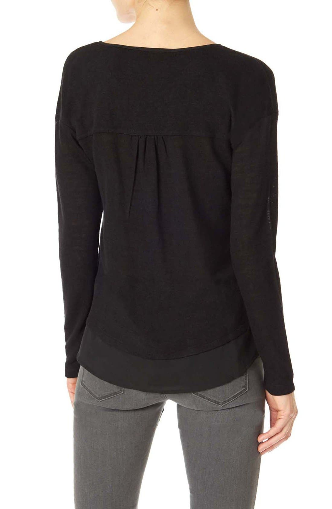 Alternate Image 2  - Sanctuary 'Hanna' Split Neck Knit Top (Regular & Petite)
