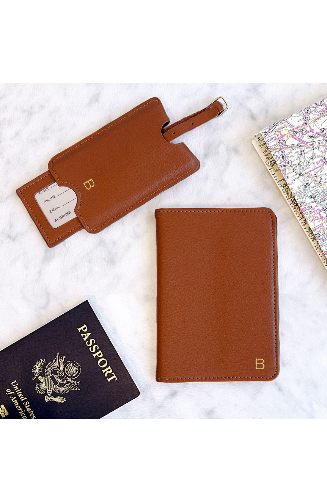 Alternate Image 2  - Cathy's Concepts Monogram Passport Case & Luggage Tag