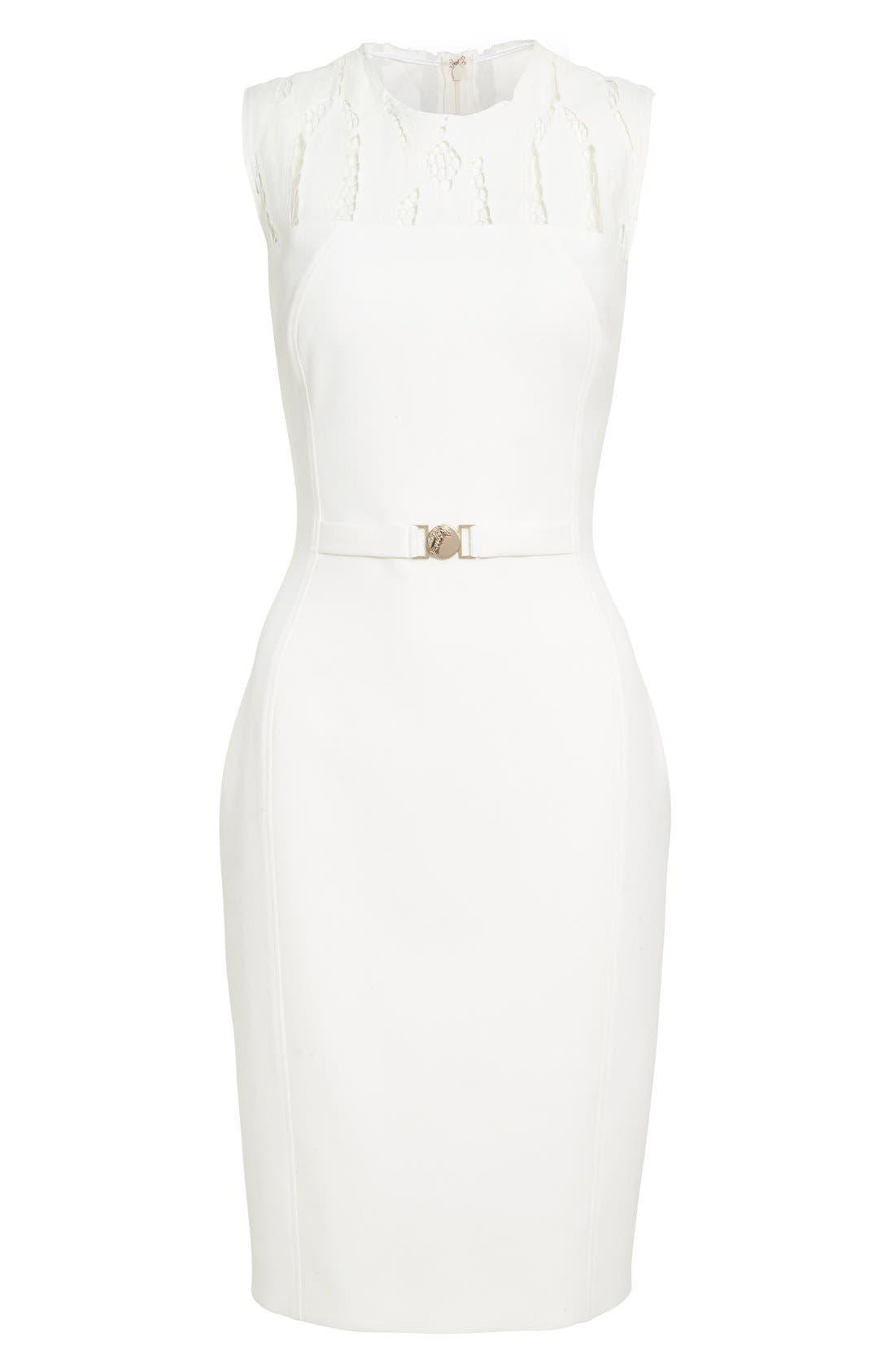 Alternate Image 4  - Versace Cutout Bodice Stretch Cady Sheath Dress