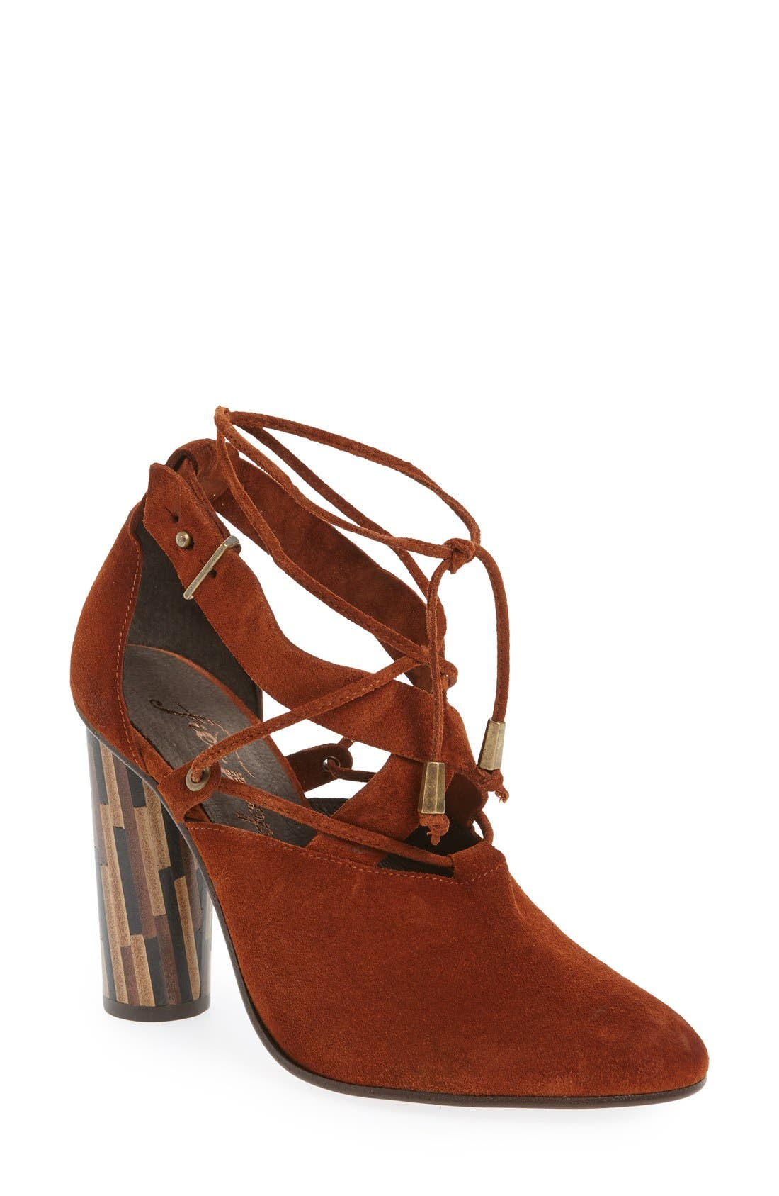 Alternate Image 1 Selected - Free People 'Nouvella' Lace-Up Pump (Women)