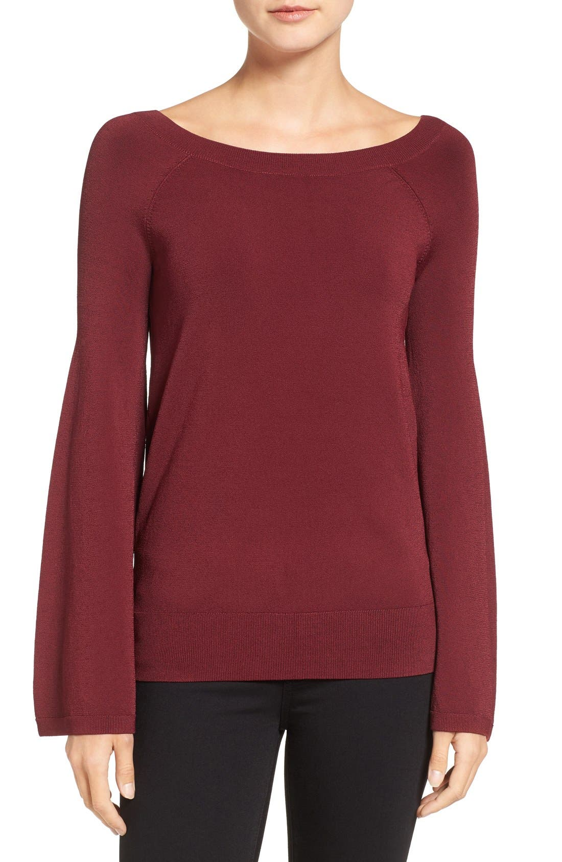 Alternate Image 1 Selected - Chelsea28 Flare Sleeve Sweater