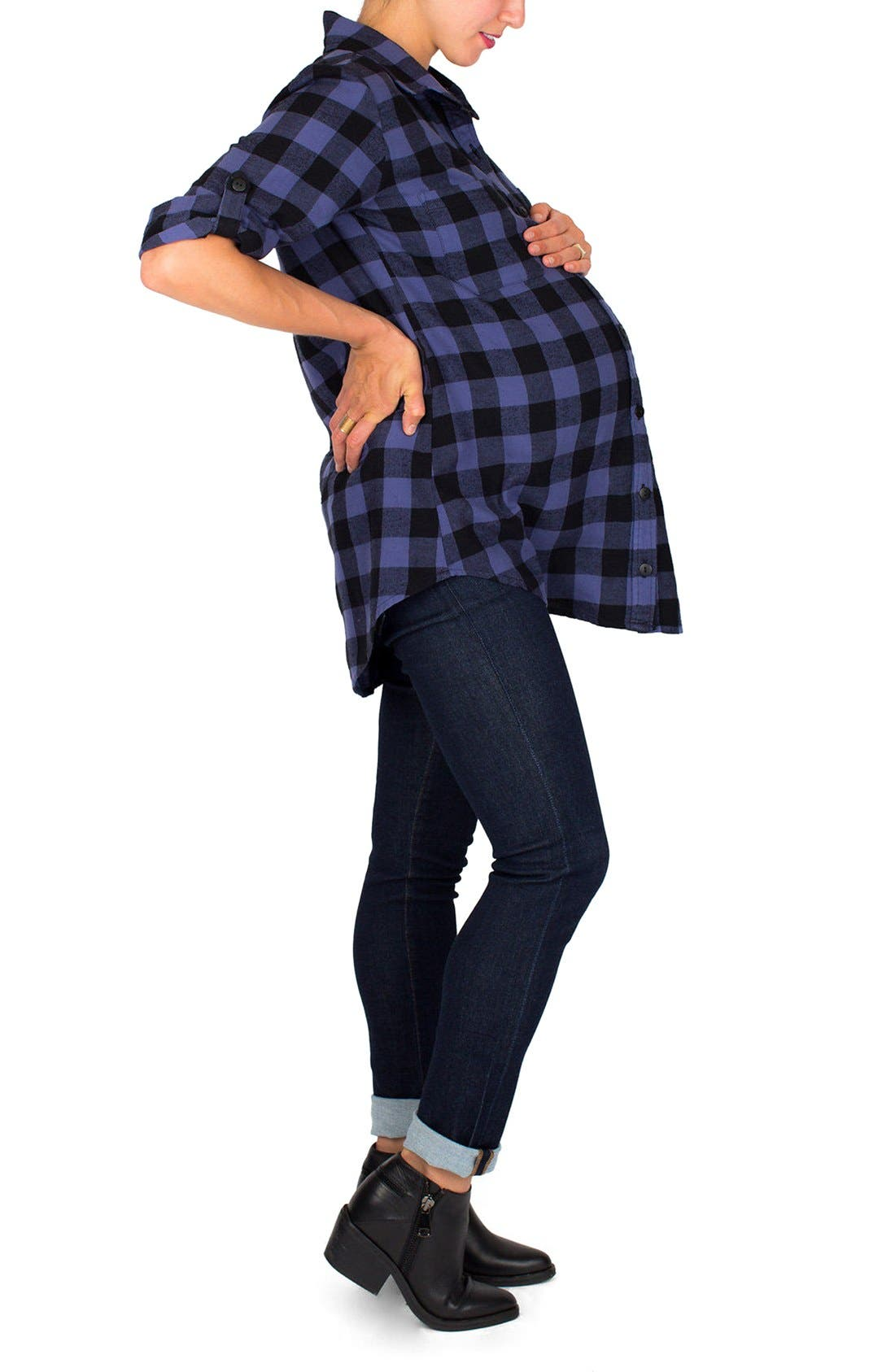 Alternate Image 3  - Nom Maternity 'Campbell' Plaid Maternity Top