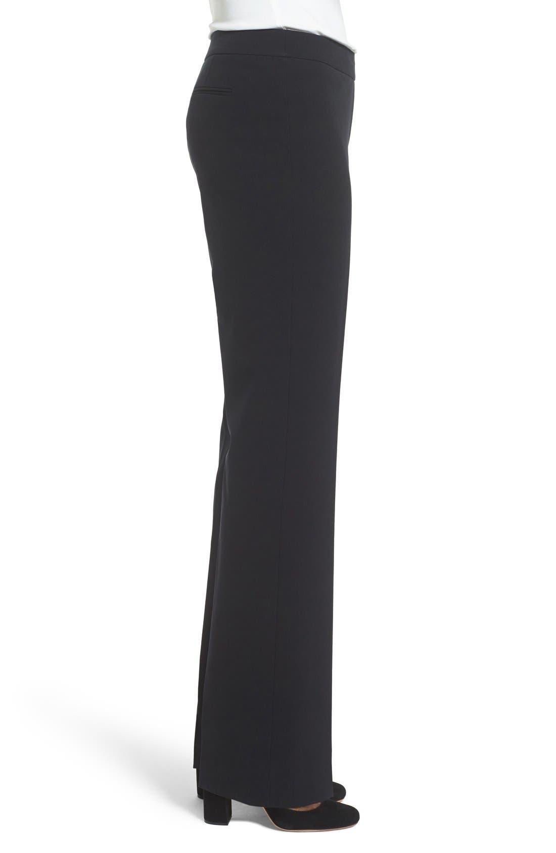 Flare Leg Suit Pants,                             Alternate thumbnail 4, color,                             Anne Klein Black