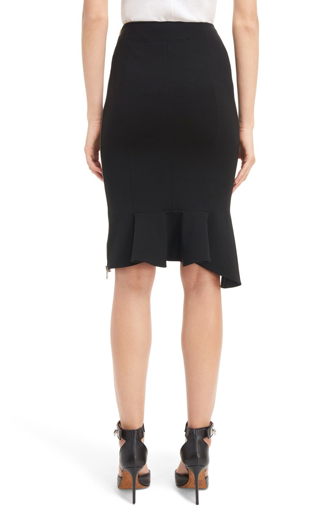 Alternate Image 2  - Givenchy Side Zip Crepe Jersey Skirt