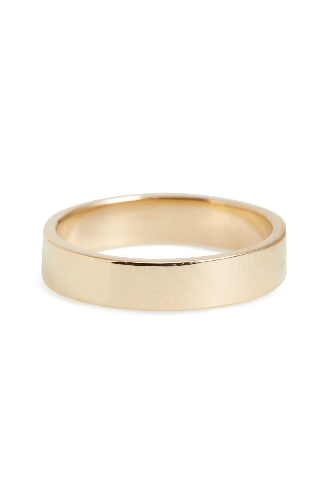 Harmony<sup>®</sup> Flat Classic 4mm Shiny Band Ring,                             Main thumbnail 1, color,                             Yellow